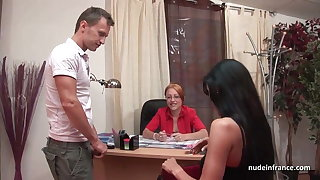 French milf in lingerie hard banged and facialized