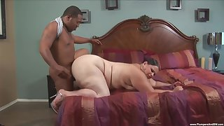 Fat white woman Victoria Close-matched fucked hard by a fat black cock