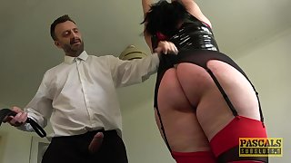 Majuscule BBW with a fat dimpled butt gets punished and fucked