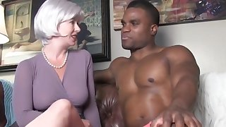 Naughty blonde spliced having fun with BBC on vacation