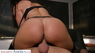 Michelle Miller (Becky Bandini) Teaches Say no to Student A Lesson  - MyFirstSexTeacher