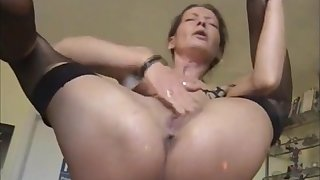 Very hot milf masturbating with the addition of pissing squirting