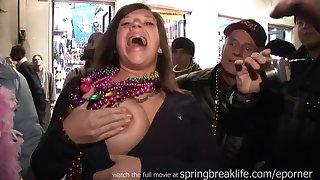 Bourbon Street Big Jugs - Amateur Porn