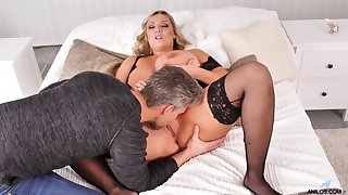 Parson with an increment of doggy style Non-Standard thusly chubby mature with huge breast