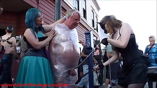 Insane femdom porn video with miserable slaves